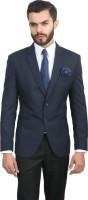 ManQ Solid Single Breasted Formal, Wedding Men Blazer(Blue)