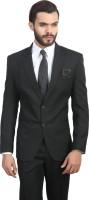 ManQ Solid Single Breasted Formal, Wedding Men Blazer(Black)
