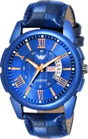 Abrexo Abx8114-BL Blue Unique New Day & Date Functioning Analog Watch  - For Boys
