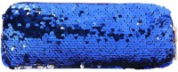 Light House Sequins Pencil Case Cosmetics Bags Women Girl Purse Clutch Pen Bags (Blue) Pouch