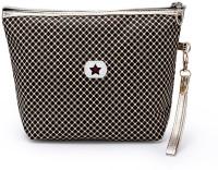 Light House Fashion Women Waterproof Makeup Bags Floral Print Clutch Bag (Golden Dots) Pouch