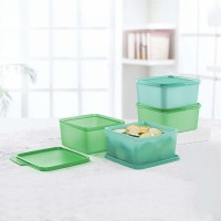 Tupperware keeptab  - 1200 ml Polypropylene Grocery Container, Fridge Container, Utility Box(Pack of 4, Green, Blue)
