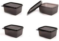 Tupperware keeptab  - 500 ml Polypropylene Grocery Container, Fridge Container, Utility Box, Spice Container(Pack of 4, Black)