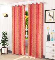 Homefab India 152.5 cm (5 ft) Polyester Curtain (Pack Of 2)(Abstract)