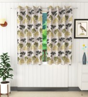 Homefab India 152.4 cm (5 ft) Polyester Curtain (Pack Of 2)(Floral)