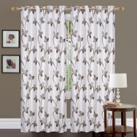 Homefab India 152.5 cm (5 ft) Polyester Curtain (Pack Of 2)(Floral)