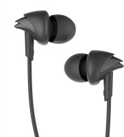 boAt BassHeads 100 Wired Headset with Mic(Black, In the Ear)