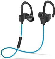 ALONZO Qc10 Bluetooth Running Headphones 4.1 Wireless Noise Cancelling Earbuds Sweatproof for Gym Workout Exercise with Mic Bluetooth Headset with Mic(Blue, In the Ear)