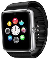 Padraig GT08 Bluetooth with Camera and SIM Card Black Smartwatch(Black Strap, Regular)