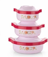 MR Insulated Steel Casseroles, Junior Gift Set, 3 Pieces, Pink Pack of 3 Thermoware Casserole Set(450 ml, 850 ml, 1250 ml)