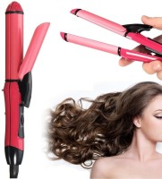 XYDROZEN ®Ceramic Plate Essential Combo Beauty Set Hair Straightener Curler - 172CF5 ®Ceramic Plate Essential Combo Beauty Set Hair Straightener Curler - 172CF5 Hair Styler(Pink - 148)