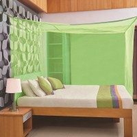 Flipkart SmartBuy Double Bed Box Mosquito Net(Green)