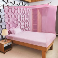 Flipkart SmartBuy Single Bed Box Mosquito Net(Pink)