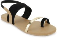 SHOFIEE Women Black Flats