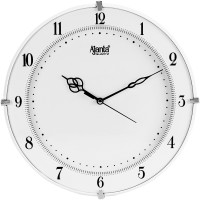 Ajanta Analog 28 cm X 28 cm Wall Clock(White, With Glass)