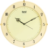 Ajanta Analog 28 cm X 28 cm Wall Clock(Beige, With Glass)