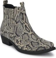 Delize genuine Leather CowBoy Chelsea Boots For Men(Multicolor)