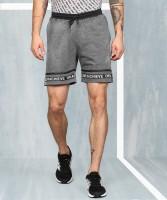 Metronaut Solid Men Grey Regular Shorts