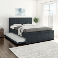 Flipkart Perfect Homes Opera Engineered Wood Queen NA Bed(Finish Color -  Grey)