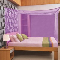 Flipkart SmartBuy Double Bed Box Mosquito Net(Purple)