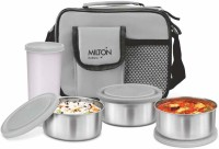 MILTON Steel Combi Meal 3 Containers Lunch Box(350 ml)