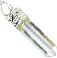 NP Pencil Pendant For Reiki Healing And Meditation For Unisex -multi-colour Tourmaline_Clear Quartz Crystal Pendant