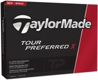TAYLORMADE TOUR PREFERRED X Golf Ball(Pack of 12, White)