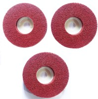 GSK Cut Buffing Wheel (Non-woven Fabric) for deburring, cleaning, matt polish (4 inch) - Pack of 3 Glass Polisher(4 inch)