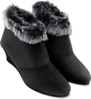 Cattz Ankle Length & High Ankle Length Boots For Women(Black)
