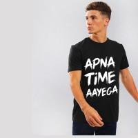 Nerroo Typography Men Round Neck Black T-Shirt