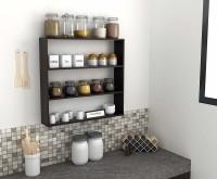 StyleWud StyleWud Kitchen Wall Shelf Rack (Wenge) Engineered Wood Kitchen Cabinet(Finish Color - Wenge, DIY(Do-It-Yourself))