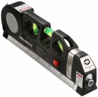 Smiledrive Laser Beam Levelling device with Bubble Indicator Measuring Tape-Accurately Hang Frames, Mirrors Pro Laser Beam Level/Levelling device with Bubble Indicator Measuring Tape-Accurately Hang Frames, Mirrors Non-magnetic Line Level(25 cm)