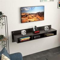 BLUEWUD Reynold Engineered Wood TV Entertainment Unit(Finish Color - Wenge, DIY(Do-It-Yourself))