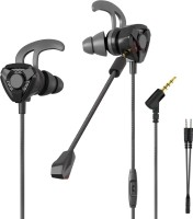 CLAW G9 Gaming Earphones with Dual Microphones Wired Headset with Mic(Black, In the Ear)