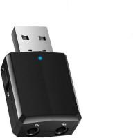 amiciSmart 5.0 Bluetooth Audio Transmitter Receiver 3.5mm AUX Wireless USB Adapter(Black)