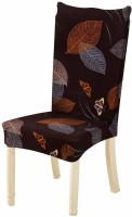 Zenuss Polyester, Cotton Chair Cover(Brown)