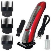 met style 7055 Red Hair Cutting Saving Classic Machine Beard Trimmer  Runtime: 45 min Trimmer for Men(Multicolor)