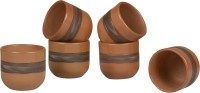 Style My Way Pack of 6 Terracotta Handcrafted Kullads(Brown)