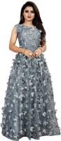 Taani fashion Women Fit and Flare Grey Dress
