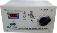 rahul C-2000 a2 Digital 2 KVA/8 Amp 90-260 Volt Mainline/Submersible Water Pump/2 Computer,Printer,Scanner,Photo Copier Autocut Digital Voltage Stabilizer(White)