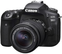 Canon EOS 90D DSLR Camera Body with Single Lens 18 - 55 mm IS STM(Black)