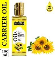 Indus Valley 100% Pure Sunflower Carrier Oil - For Aromatherapy(100 ml)
