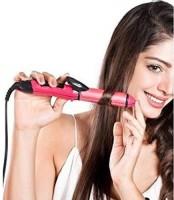 XYDROZEN ®N-1818 Hair Straightener and Curler Iron Machine (Pink) - 17033SH Electric Hair Curler(Barrel Diameter: 50 mm)