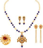 Induspider Brass, Alloy Jewel Set(Blue, White, Gold)