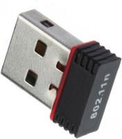 Adnet Wifi Dongle 802.11n Wi Fi 2.4GHz Small Wireless LAN Network USB Adapter(Black)