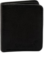 SHAMRIZ Men Black Artificial Leather Wallet(8 Card Slots)