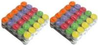Flipkart SmartBuy Multi Color Tealight pure paraffin candle aprox 2 hr burn time 100 pc Candle(Multicolor, Pack of 100)