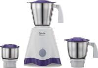 Preethi Crown MG 205 500Watt Mixer Grinder White Purple 500 Mixer Grinder (3 Jars, White, Purple)