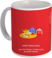Color Yard best may this festival of bai dhooj be more blissful on Ceramic Mug(320 ml)