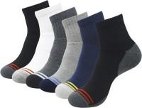 Balenzia Men Solid Ankle Length Socks(Pack of 6)
